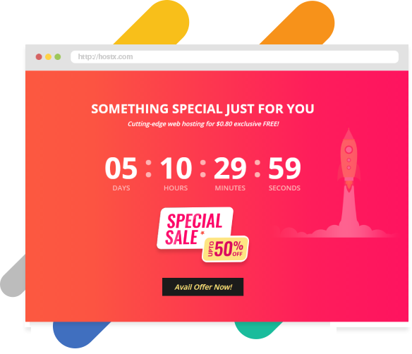 WHMCS HostX web hosting theme With Live Timer Offer