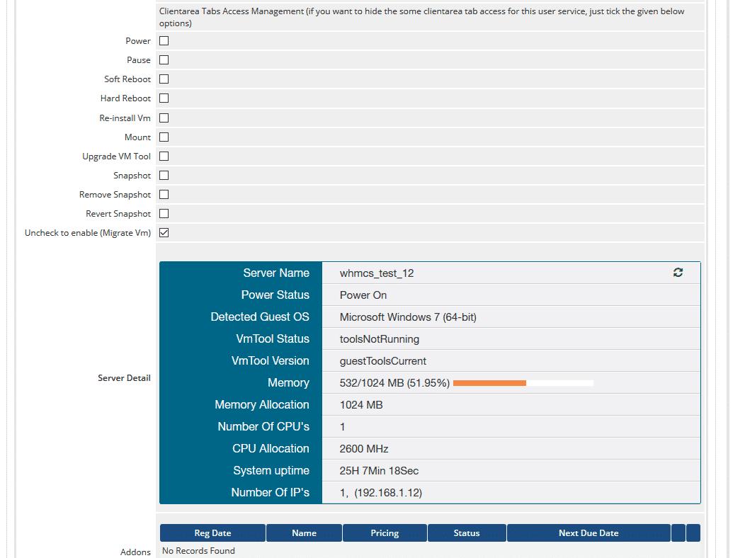 VMware WHMCS Module | WHMCS Global Services