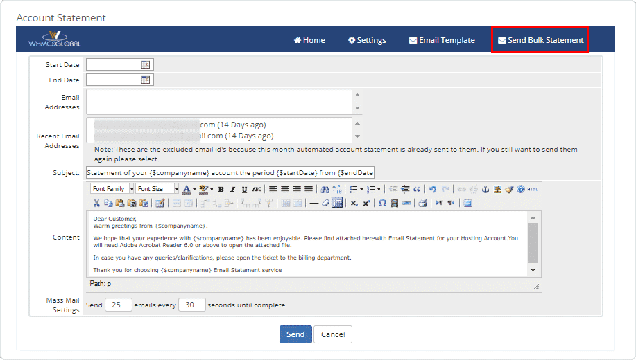 Whmcs Account Statement Module Whmcs Modules