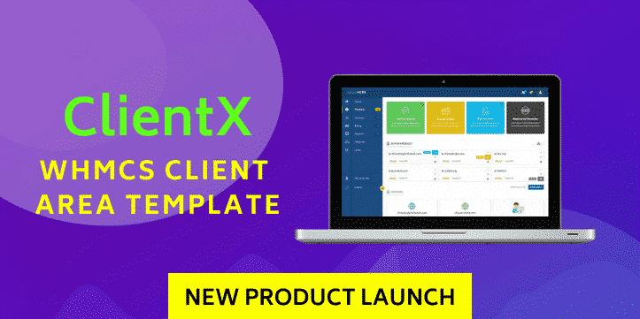 ClientX- WHMCS Client Area Theme