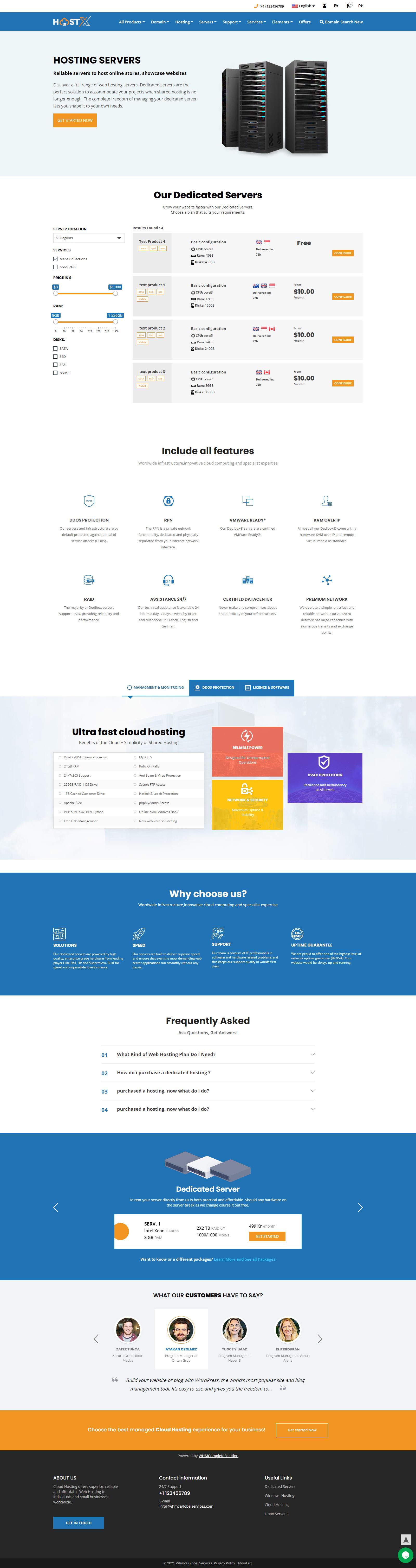 web hosting theme