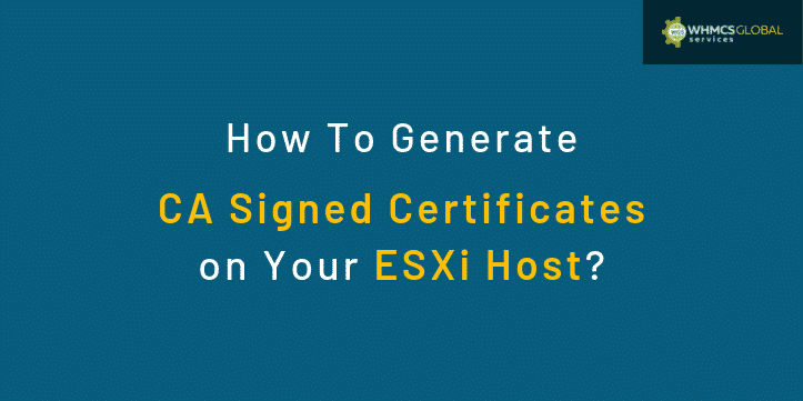 How to assign CA certificates on ESXi host?