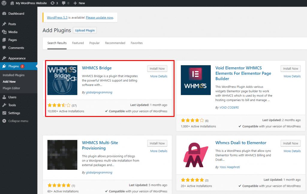 WHMCS Bridge Plugin for WordPress Users