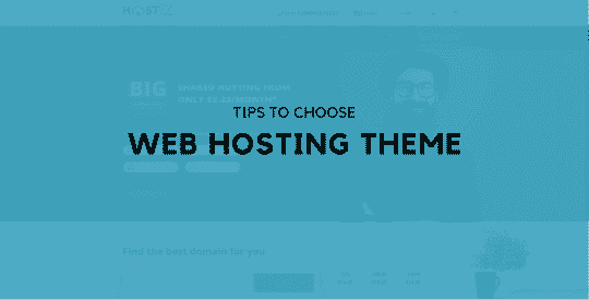 Tips to Choose a Web Hosting Theme