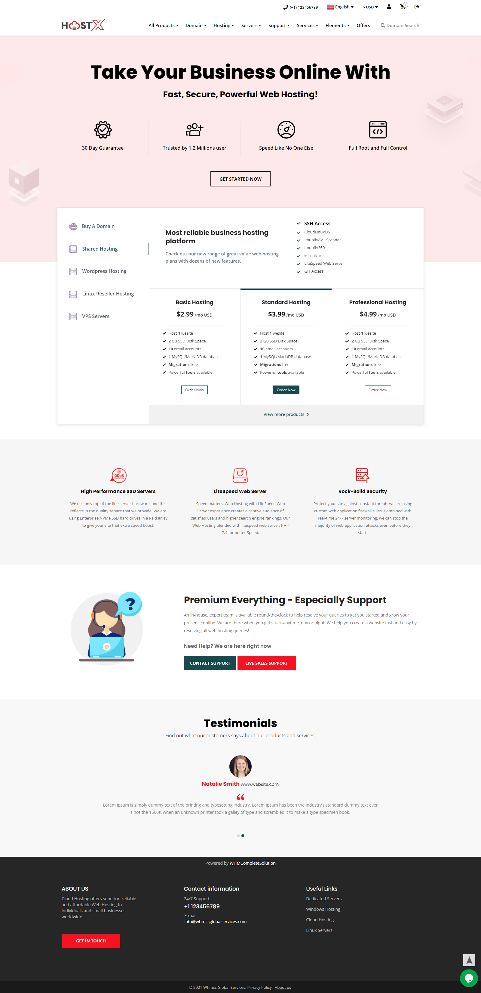 whmcs client template