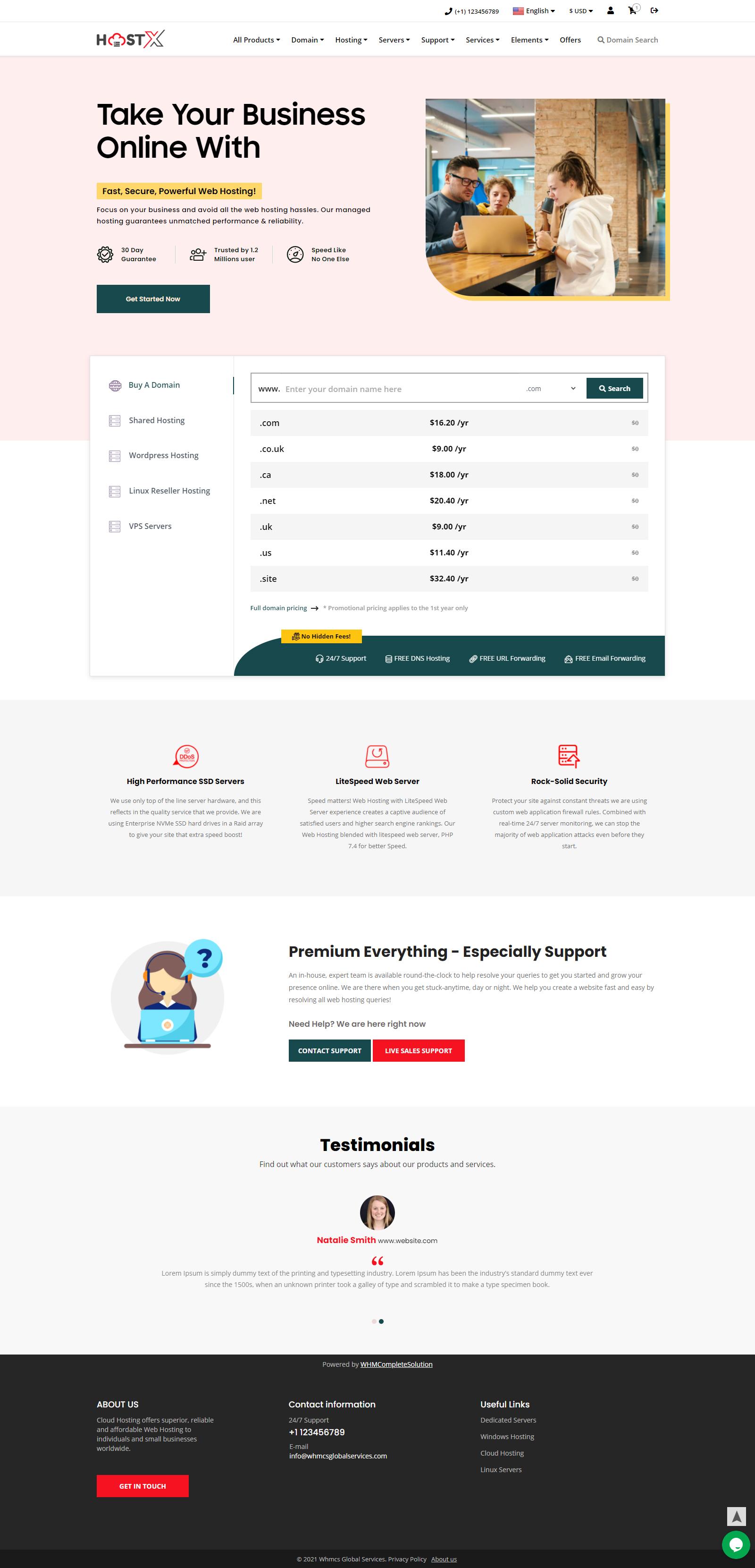iptv website theme