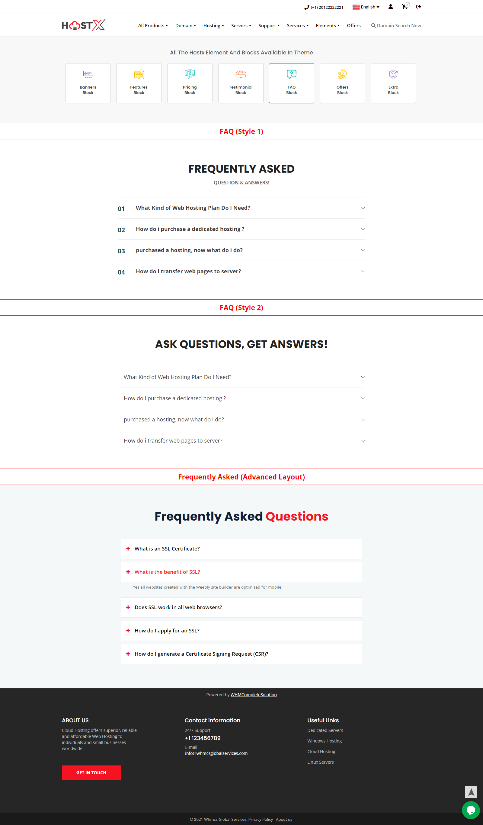 best web hosting website templates