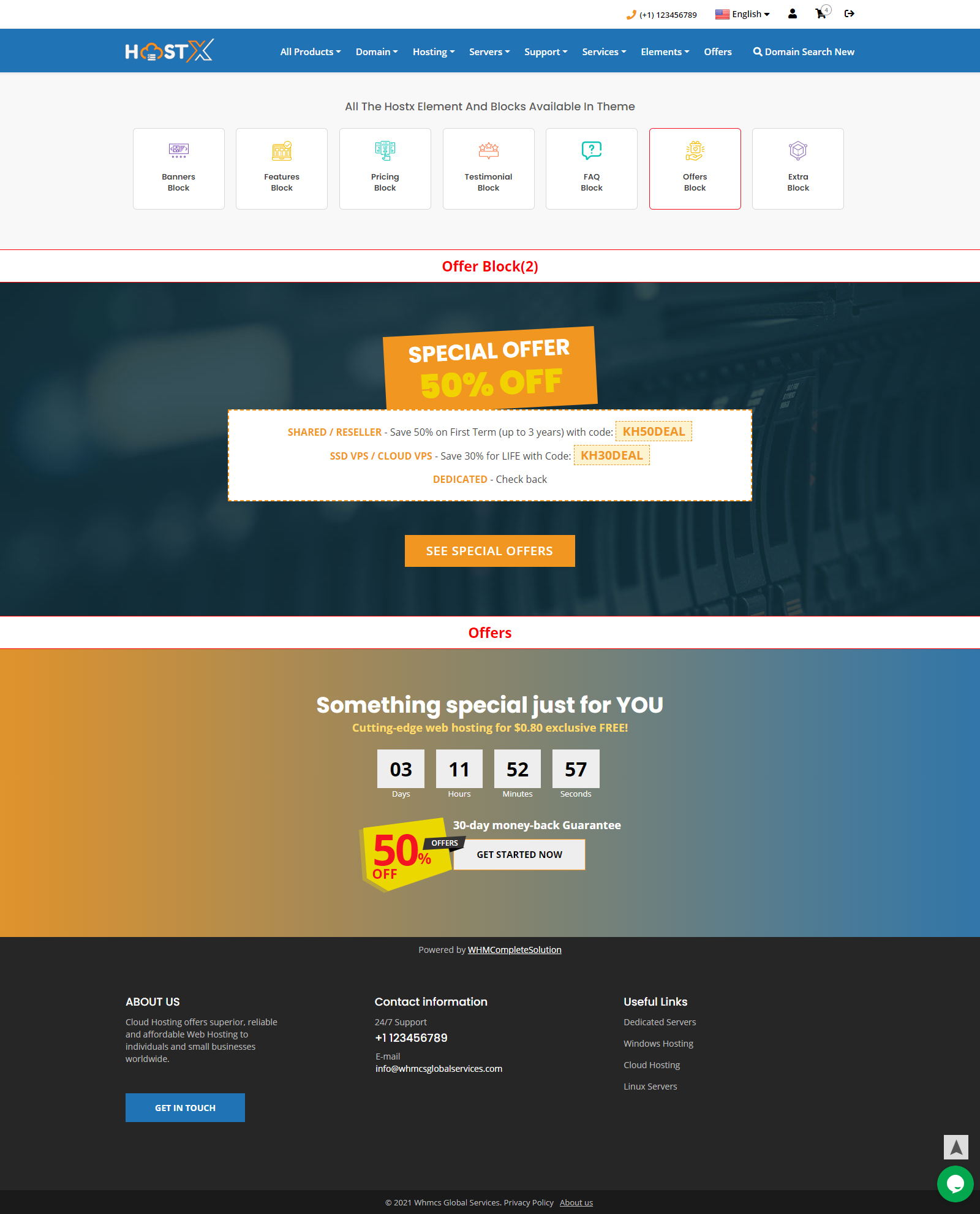 web hosting website templates
